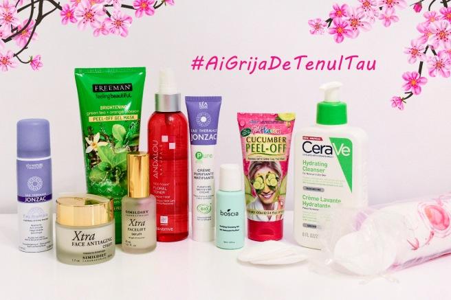 produse cosmetice pe care le folosesc CeraVe Jonzac Simildiet 7th Heaven Andalou Boscia parere