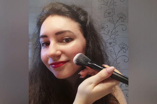 eu 1001 cosmetice kabuki pensula aplicare machiaj
