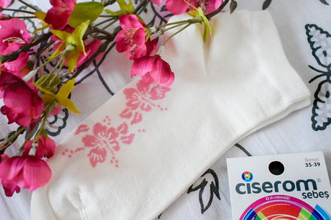 ciserom imprimeu floral cirese