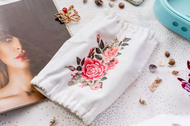 masca personalizata kreativator cu trandafiri elastic