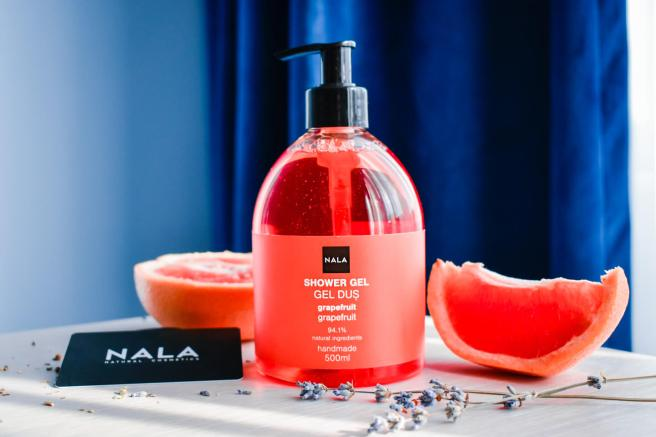 gel de dus grapefruit nala ingrediente naturale