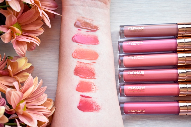FARMASI nudes for all NOU swatches