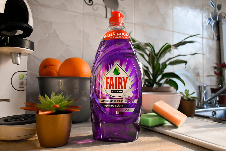 fairy usor de clatit 900 ml liliac