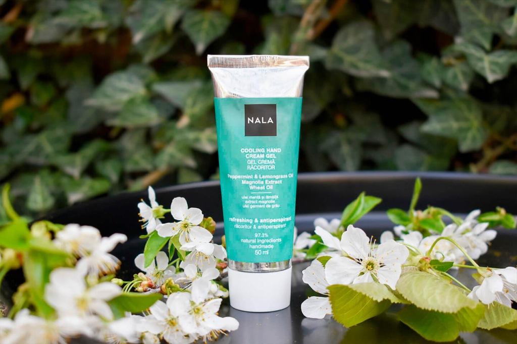NALA crema maini antiperspirant fresh menta magnolie grau