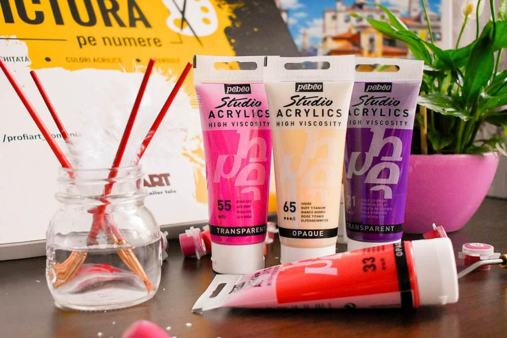 pebeo acrylics high viscosity acrilice vascozitate crescuta nou profi art afi cotroceni