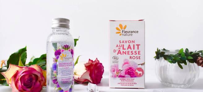 fleurance nature cosmetice bio apa micelara sapun cu trandafiri si lapte de magarita